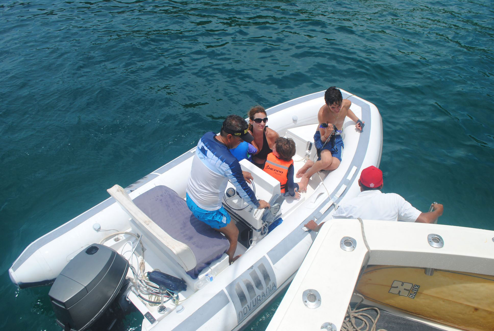 14 FT Dingy with a 40 HP Motor
