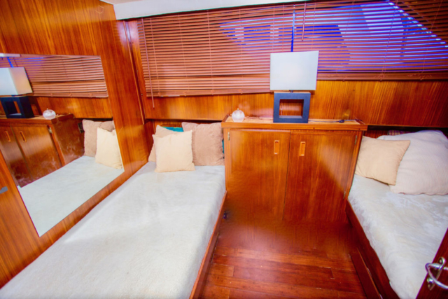 75 ft. Hatteras - Power Yacht - Up to 40 People - Twin-Berth-stateroom 1