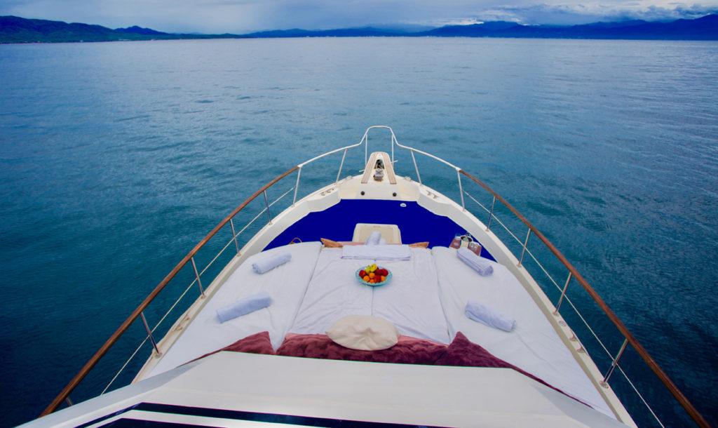 75 ft. Hatteras - Power Yacht - Up to 40 People - Bow 2