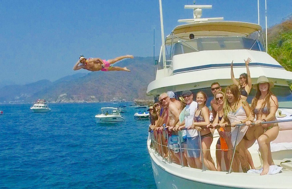 75 ft. Hatteras - Power Yacht - Up to 40 People - jumping