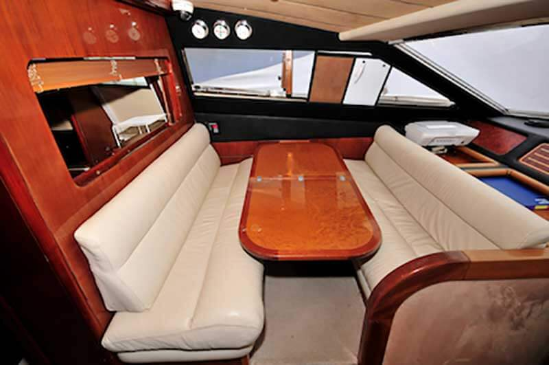 80-FT-Ferretti-Power-Yacht-Up-to-30-People-Complimentary-Dinette-Seats-along-the-Pilot-House