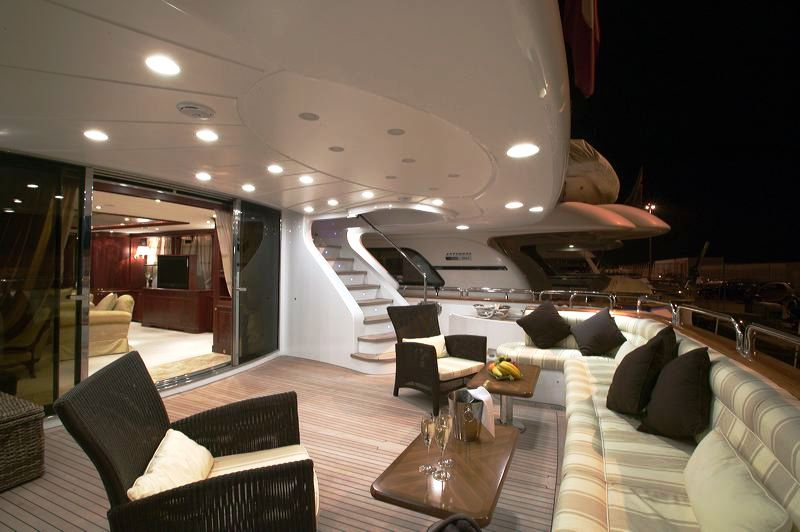 120 ft. Luxury Motor Yacht – Up to 20 People - Aft Deck