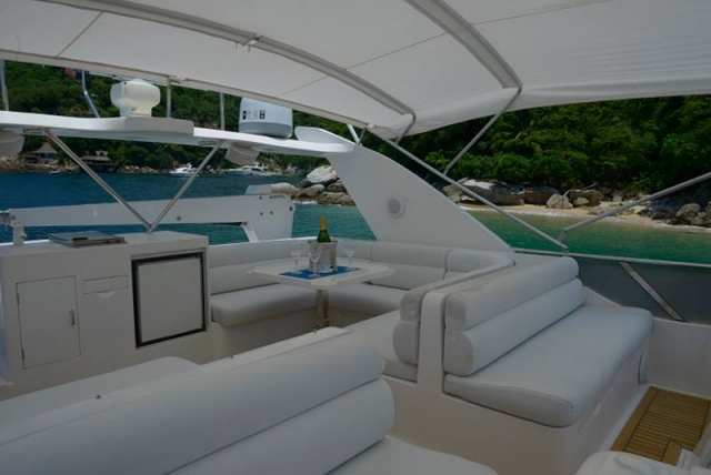 Bimini-Top-and-Front-Twin-double-Seats-in-Flybridge