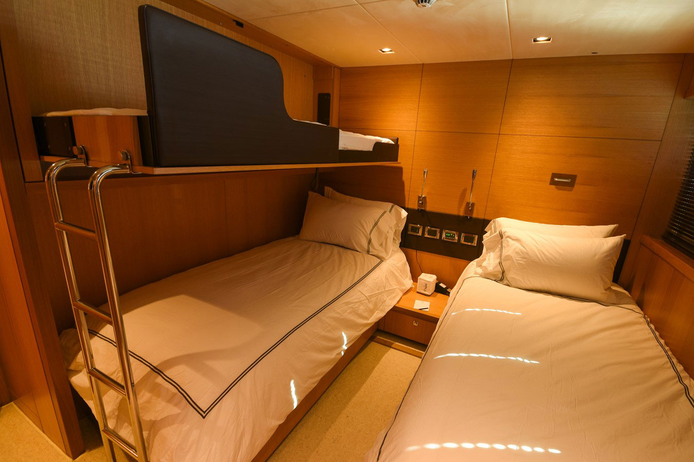 112 ft.-Sunseeker-Power-Yacht - Convertible-Side-bunk-Stateroom