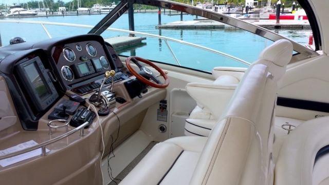 46 ft. Sundancer 420 – Luxury Power Yacht -Bridge -helm Seats