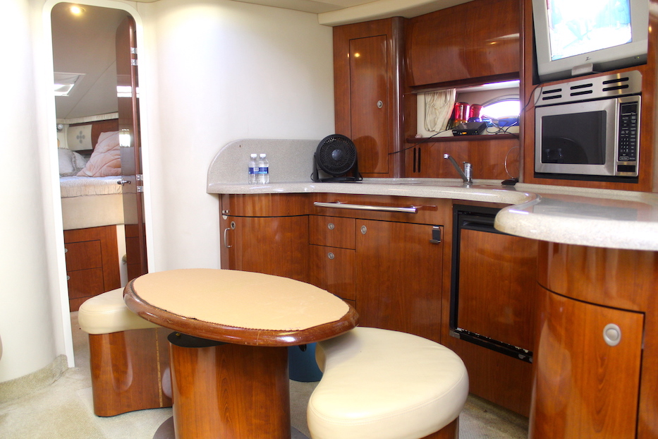 46 ft. Sundancer 420 – Luxury Power Yacht -Galley - Settee