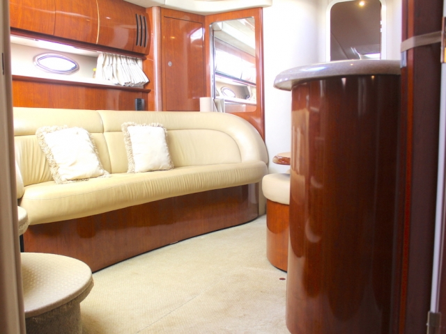 46 ft. Sundancer 420 – Luxury Power Yacht -Lower deck lounge